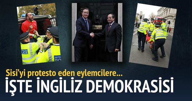 Londra'da darbeci Sisi'ye şok protesto