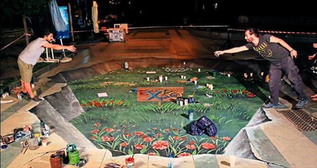3 boyutlu EXPO bahçesi