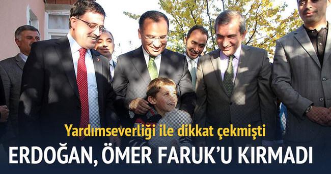 Cumhurbaşkanı Erdoğan Ömer Faruk'u kırmadı