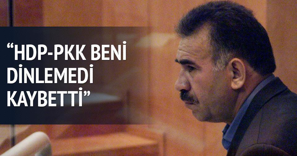 Öcalan: HDP ve PKK yanlış yaptı
