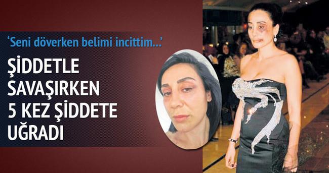 Saruhan Hünel'in sevgilisi şiddetle savaşırken 5 kez şiddete uğradı