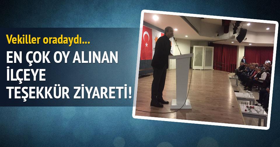 En çok oy arttıran Arnavutköy'e teşekkür ziyareti
