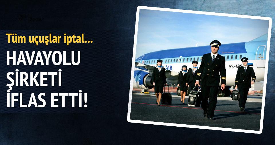 Havayolu şirketi iflas etti