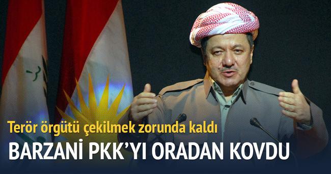 Barzani PKK'yı oradan kovdu