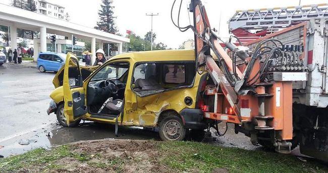 Ünye'de hastane önünde kaza: 1 ölü
