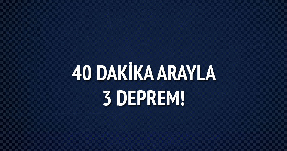 Şanlıurfa'da 40 dakikada 3 deprem!