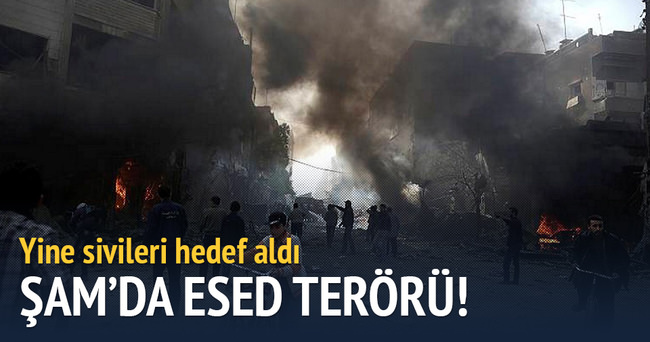 Esad sivilleri vurdu