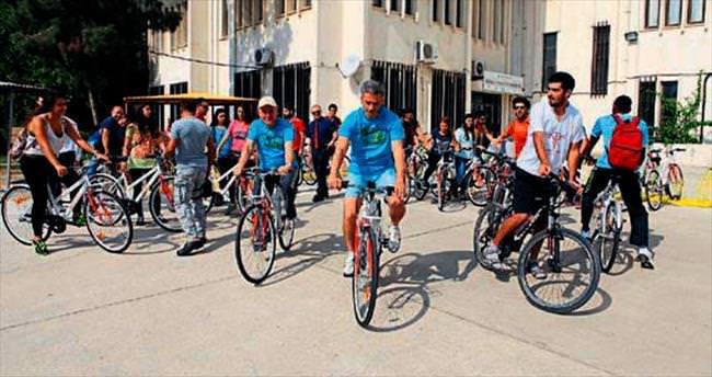 Çukurova Üniversitesi'nden bisiklet
