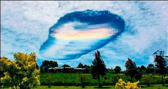 Fallstreak gökkuşağı bulutu yine büyüledi