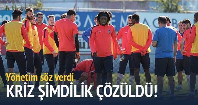 Trabzon'daki kriz şimdilik çözüldü