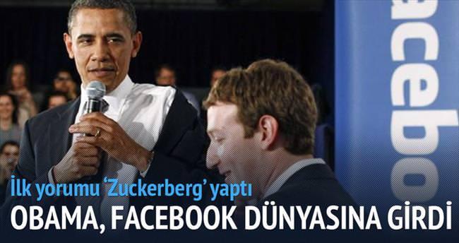 Obama, Facebook dünyasına girdi