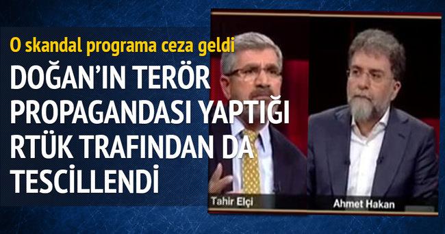 RTÜK'ten Ahmet Hakan'ın programına ceza
