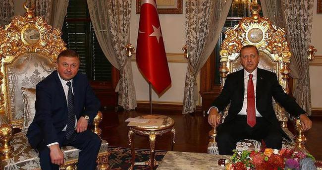 Cumhurbaşkanı Erdoğan Belarus Başbakanı Kobyakov'u kabul etti