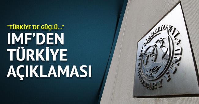 IMF:  Türkiye'de güçlü büyüme devam ediyor