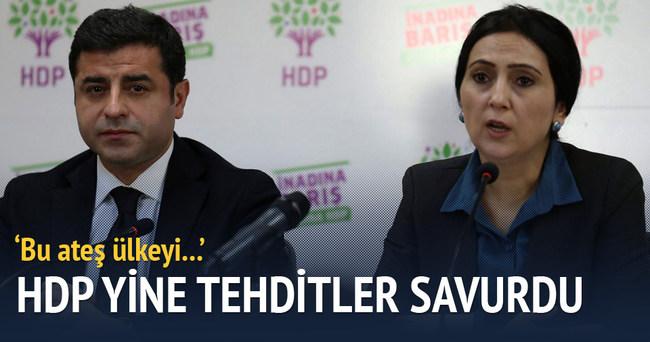 HDP yine tehditler savurdu!
