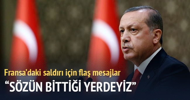 Cumhurbaşkanı Erdoğan: Fransa halkına taziyelerimi sunuyorum