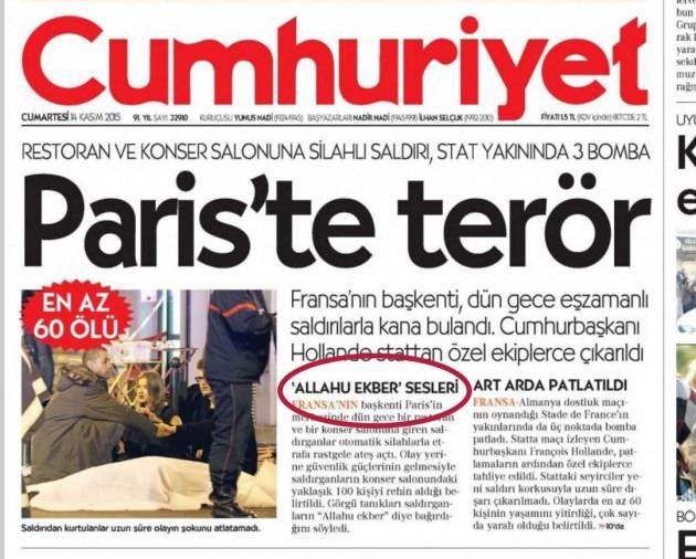 İslam düşmanı Cumhuriyet! - Takvim