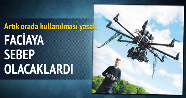 Havalimanına 'drone' uyarı levhaları asıldı