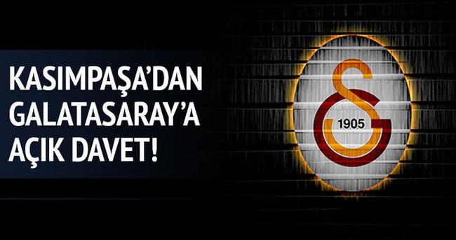 Kasımpaşa'dan Galatasaray'a açık davet