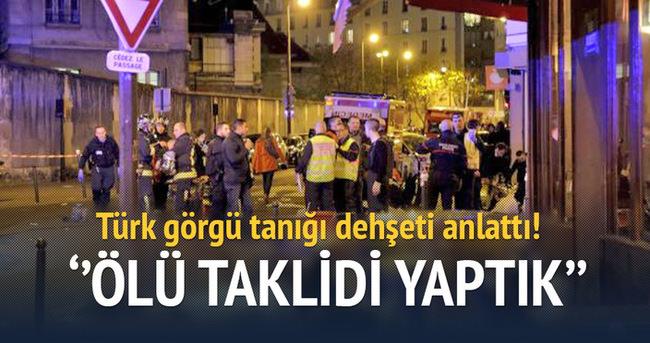 Saldırının Türk tanığı dehşeti anlattı