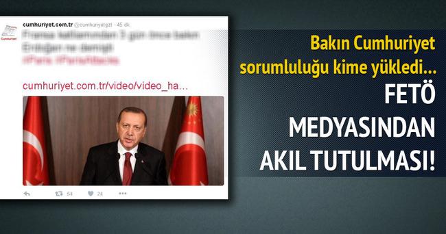 Cumhuriyet'e göre Paris saldırılarını Erdoğan yaptırdı!