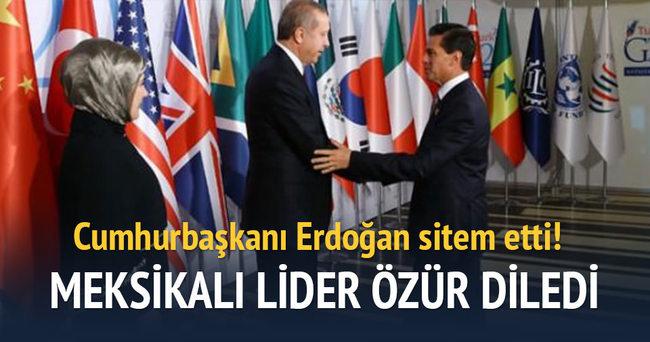 Erdoğan sitem etti, Nieto özür diledi
