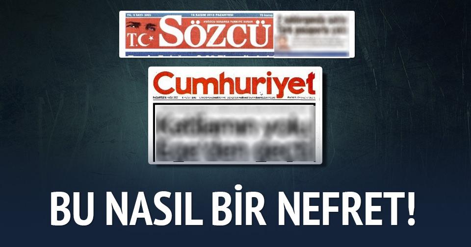 Cumhuriyet ve Sözcü Türkiye'yi suçluyor