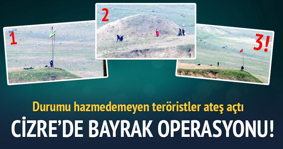 Çarkendal Tepesi'ndeki PKK flaması indirildi