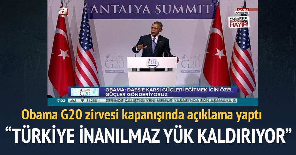 Barack Obama G20 Zirvesi kapanışında açıklamalar yaptı