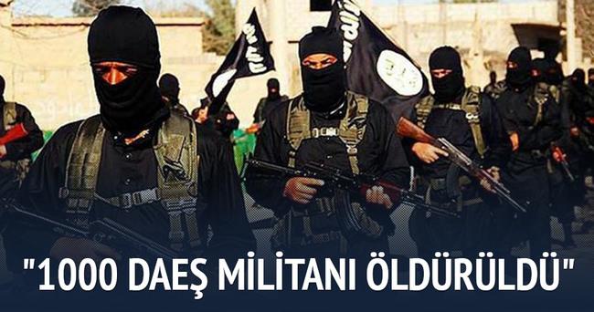 Yaklaşık 1000 DAEŞ militanı öldürüldü