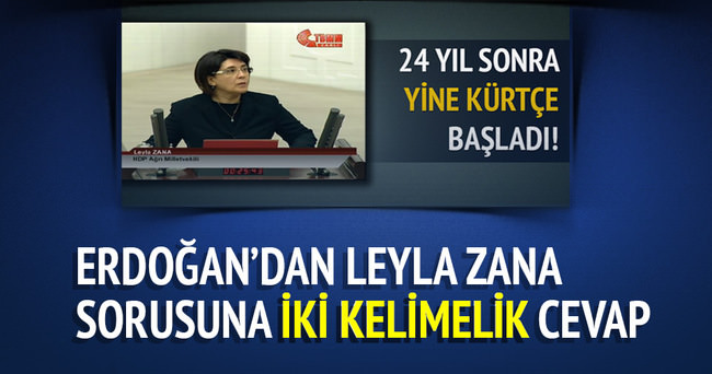 Cumhurbaşkanı'ndan Leyla Zana sorusuna cevap!