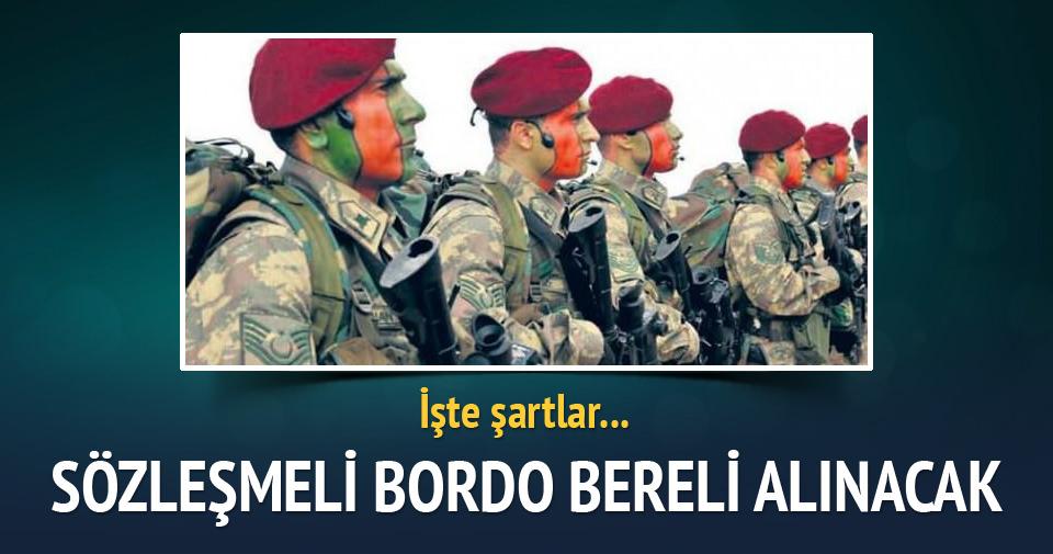 İşte sözleşmeli 'Bordo Bereli' olmanın şartları