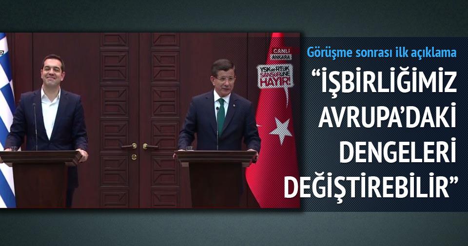 Davutoğlu - Çipras ortak basın açıklaması yaptı