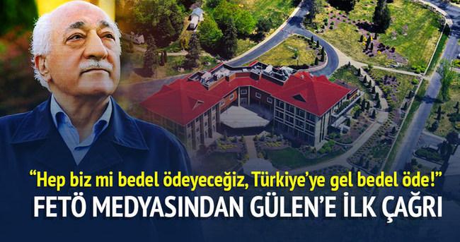 FETÖ medyasından Gülen'e ilk çağrı
