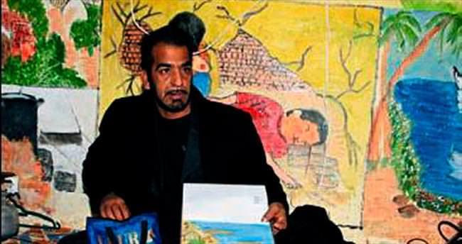 Suriyeli ressamın yaşam mücadelesi