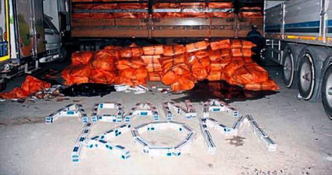TIR'da 500 bin paket kaçak sigara bulundu