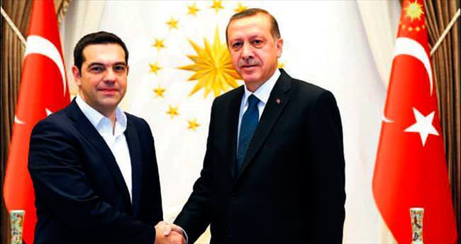 Erdoğan, Blair ve Çipras'ı kabul etti