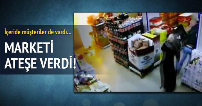 PKK'lılar marketi böyle ateşe verdi!