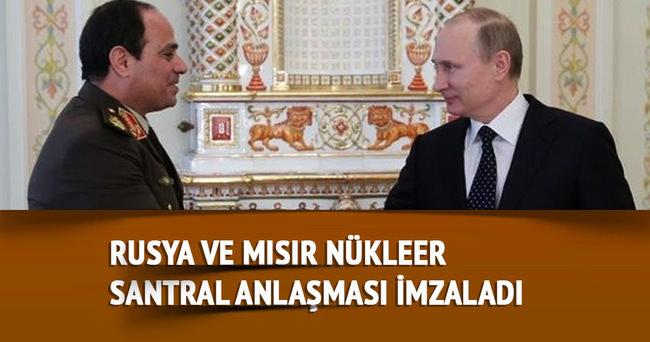 Rusya ve Mısır nükleer santral anlaşması imzaladı