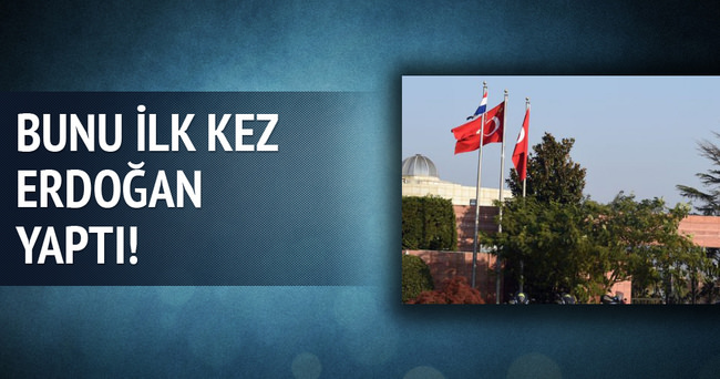 Erdoğan'dan bayrak jesti!