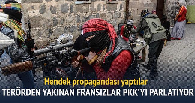 Terörden yakınan Fransızlardan PKK propagandası