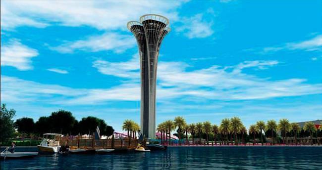 Antalya'daki Expo Kulesi'ni 'tersten' inşa ediyor