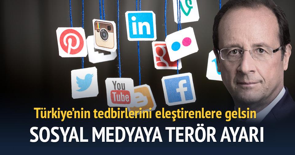 Fransa'da sosyal medyaya 'terör' ayarı