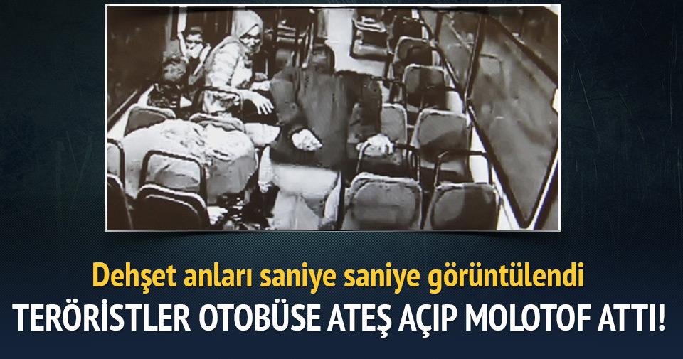 PKK'lılar otobüse ateş açıp molotof attı