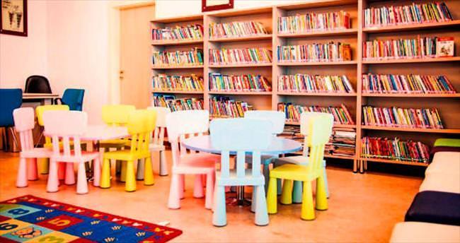 Elmadağlı gençlere modern kütüphane