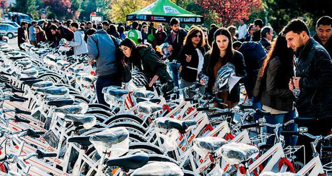 Kampusta bisiklet devrimi