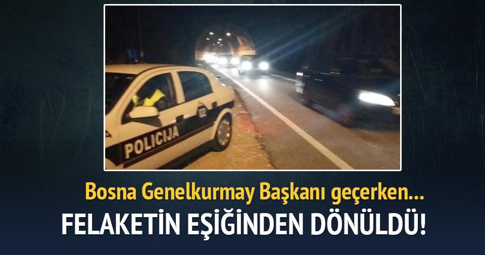 Bosna Genelkurmay Başkanı Jelec'in geçeceği tünelde patlama