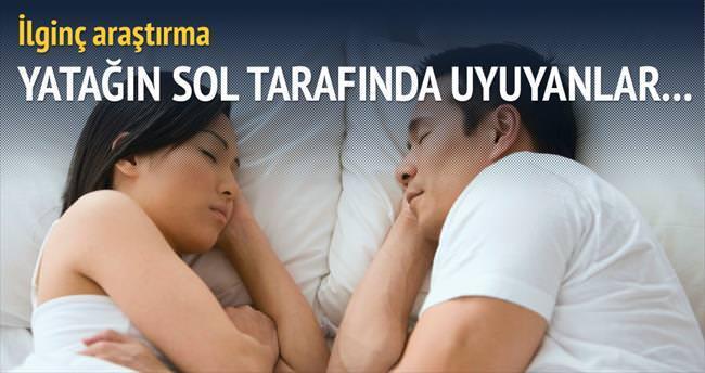 Yatağın sol tarafında uyuyanlar daha mutlu