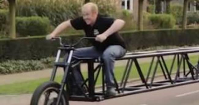 Dünyanın En Uzun Bisikleti üretildi Dünya Haberleri