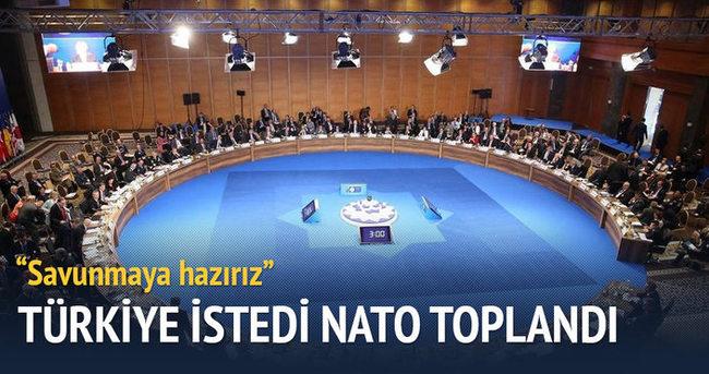 Türkiye istedi NATO toplandı